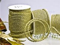 Lurex Kordel - 6mm - 25m - gold