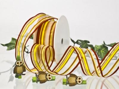 Streifenband - gelb-orange-rot - 40mm - 20m - mD