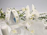 Hochzeitsband - 25mm - 20m - weiß