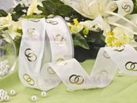 Hochzeitsband - 40mm - 20m - weiß