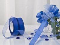 Organza-25mm-50m blau