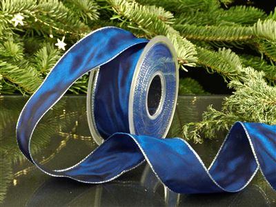Weihnachtsuniband blau -40mm-25m-md