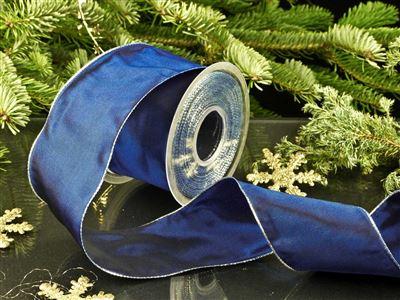 Weihnachtsuniband blau -70mm-25m-md
