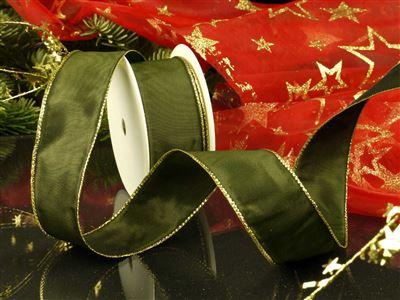 Weihnachtsuniband grün -40mm-25m-md