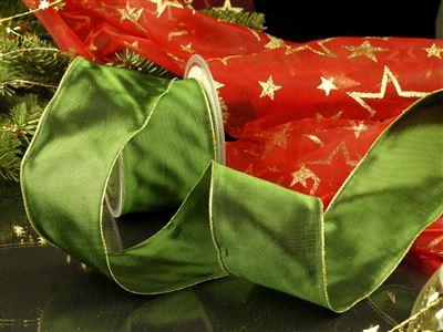 Weihnachtsuniband grün -70mm-25m-md