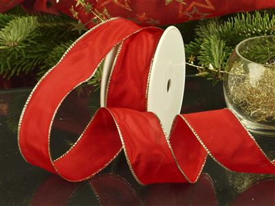 Weihnachtsuniband rot -40mm-25m-md