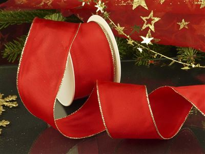 Weihnachtsuniband rot -70mm-25m-md