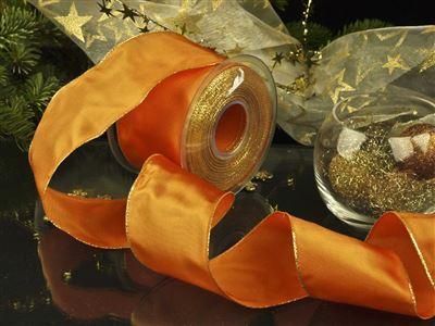Weihnachtsuniband orange -70mm-25m-md