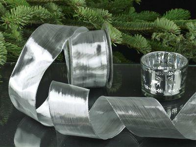 Tischband - 60mm - 25m - silber