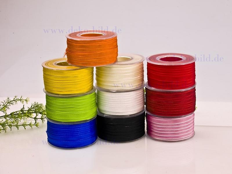 Schleifenband - 10mm - 50m - verschiedene Farben