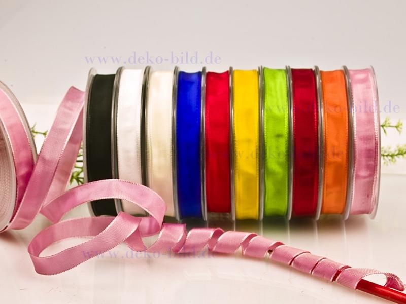 Schleifenband - 15mm - 25m -  verschiedene Farben