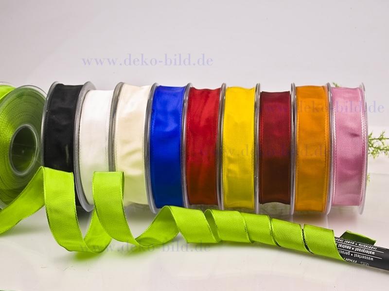 Schleifenband- 25mm - 25m -  verschiedene Farben