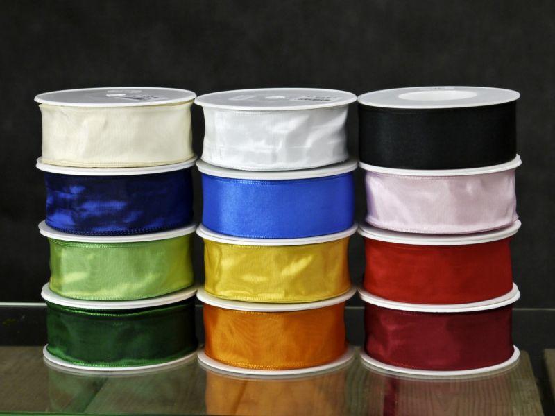 Schleifenband - 40mm - 25m - mD -  verschiedene Farben