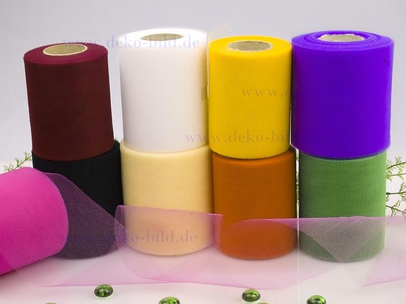Tüll - 100mm - 50m -  verschiedene Farben