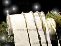 Weihnachtsuniband creme - verschiedene Breiten und Längen